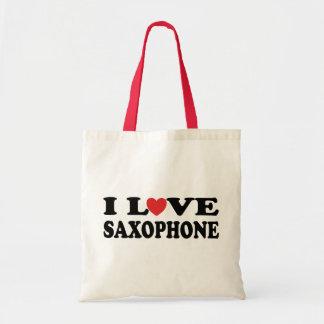 I Love Saxophone Tote Bag