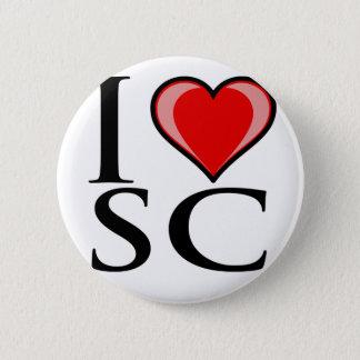 I Love SC - South Carolina 6 Cm Round Badge