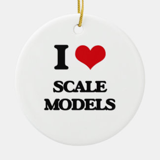 I Love Scale Models Christmas Tree Ornament