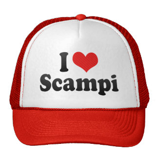 I Love Scampi Trucker Hats