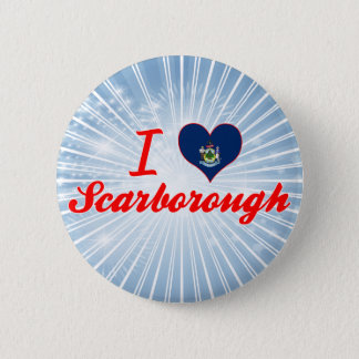 I Love Scarborough, Maine 6 Cm Round Badge
