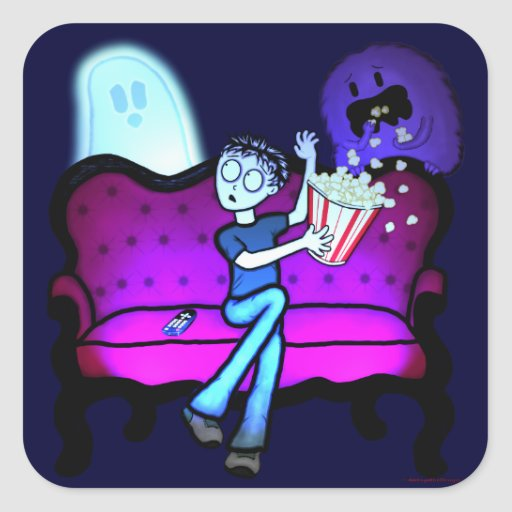 I Love Scary Movies Stickers