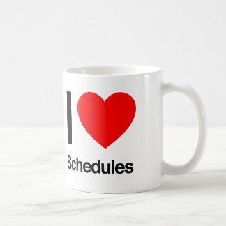i love schedules coffee mug