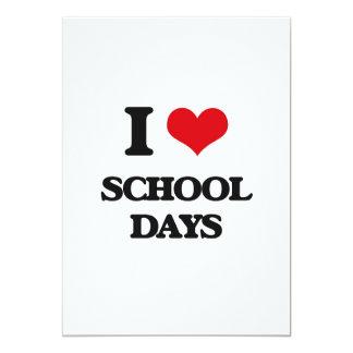 I Love School Days 13 Cm X 18 Cm Invitation Card