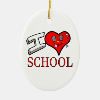 I Love School Design for Learners and Educators Christmas Ornament