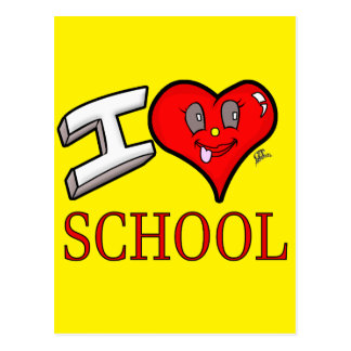 I Love School Design for Learners and Educators Postcard