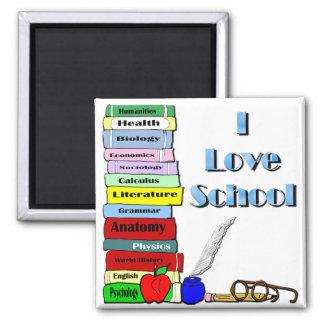 I Love School Fridge Magnets