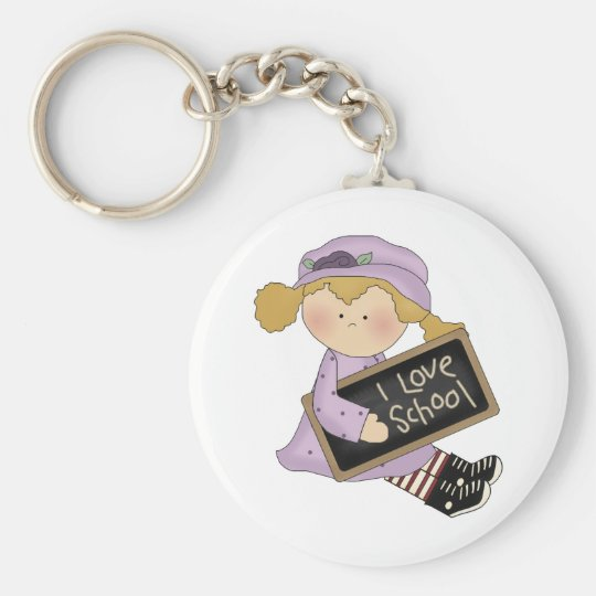 I Love School, Girl Keychain