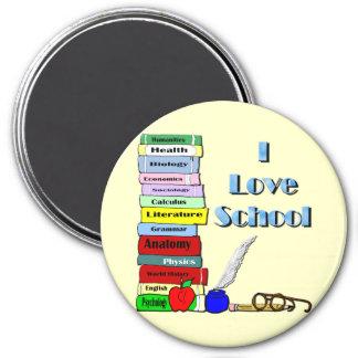 I Love School Refrigerator Magnet