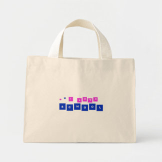 I love school mini tote bag