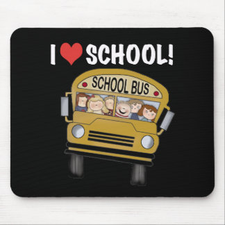 I Love School Mouse Pad