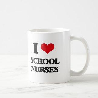I love School Nurses Coffee Mug