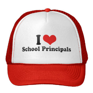 I Love School Principals Hats