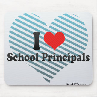 I Love School Principals Mouse Pads
