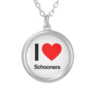 i love schooners personalized necklace