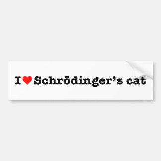 """I LOVE SCHRODINGER'S CAT"" BUMPER STICKER"