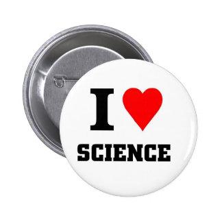I love science 6 cm round badge