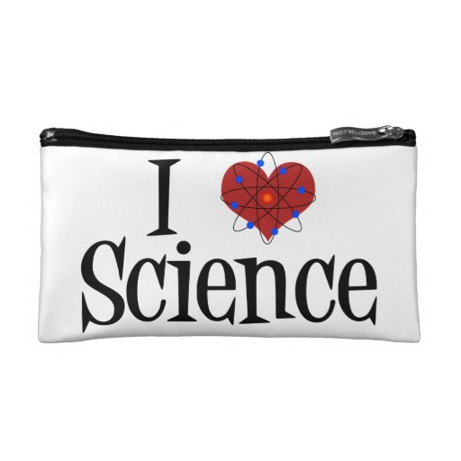 I Love Science Cosmetic Bags