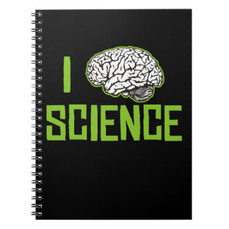 I Love Science (brain, green) Notebooks