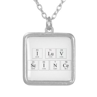 I Love Science Necklace