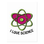 I Love Science Post Card