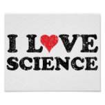 I Love Science Poster