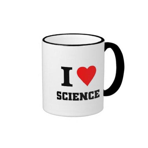 I love science ringer coffee mug