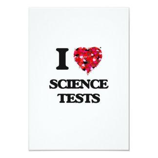 I love Science Tests 9 Cm X 13 Cm Invitation Card
