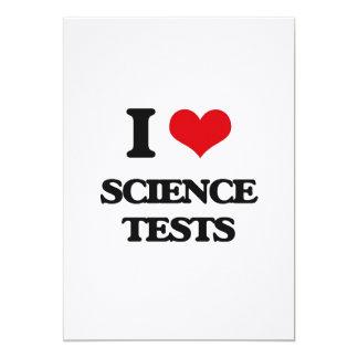 "I love Science Tests 5"" X 7"" Invitation Card"