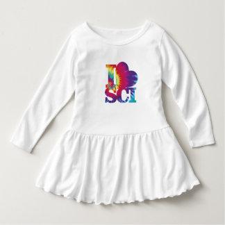 I Love Science Toddler Ruffle Dress