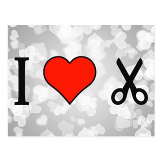 I Love Scissors Postcard