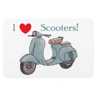 I Love Scooters! Flexi Magnet