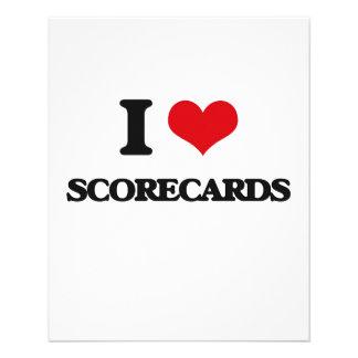 I Love Scorecards Flyers