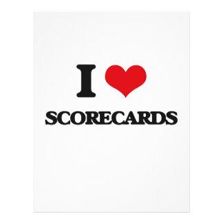 I Love Scorecards Custom Flyer