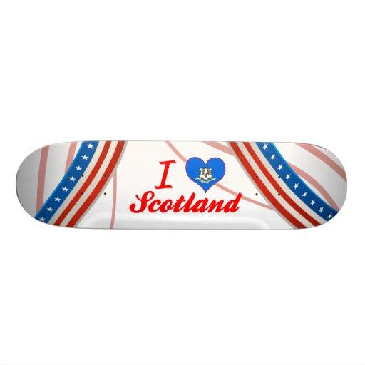 I Love Scotland, Connecticut Skateboard Deck