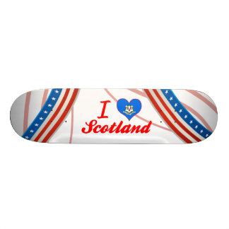 I Love Scotland Connecticut Skateboard Deck