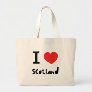 I love Scotland Large Tote Bag