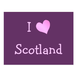 I Love Scotland Postcard