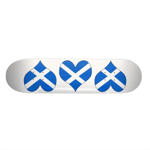 I Love Scotland Custom Skateboard