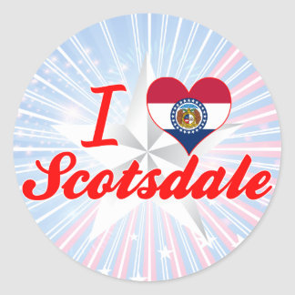 I Love Scotsdale Missouri Stickers