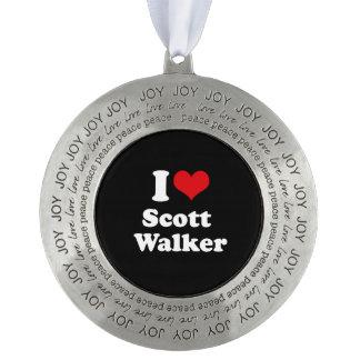 I Love Scott Walker - Election 2016 Round Ornament
