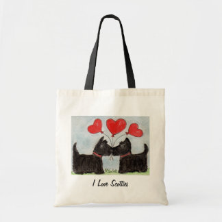 I love Scotties art bag birthday Scottish Terrier