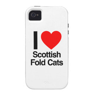 i love scottish fold cats case for the iPhone 4