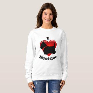 I Love Scottish Terriers, Big red heart of love Sweatshirt