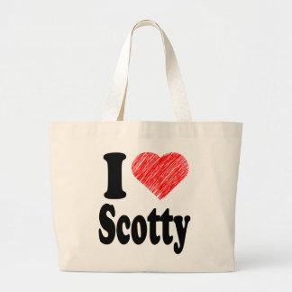I Love Scotty Heart Art Hand Bag