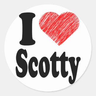 I Love Scotty Heart Art Round Sticker