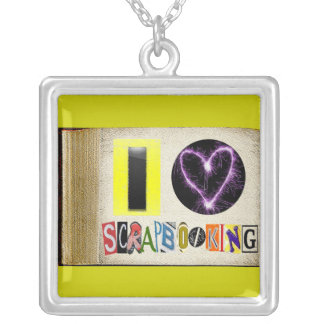 I Love Scrap booking Necklace