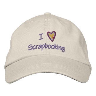 I Love Scrapbooking Embroidered Hat