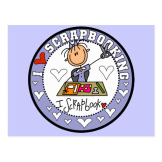 I Love Scrapbooking Tshirts and Gifts Postcard