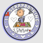 I Love Scrapbooking Tshirts and Gifts Round Sticker